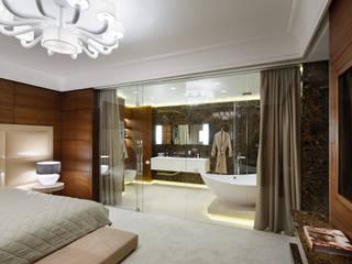 Стеклянные перегородки в квартире: Ванные комнаты в . Автор – Геометрия Пространства