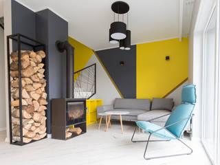 Dom w Szamotułach Nowoczesny salon od Puku Studio Nowoczesny
