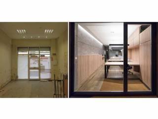 OFICINAS Estudios y despachos de estilo moderno de RIA CONSTRUCCION & INTERIORISMO Moderno