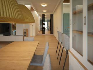 Dom pod Warszawą: styl , w kategorii Jadalnia zaprojektowany przez Puku Studio