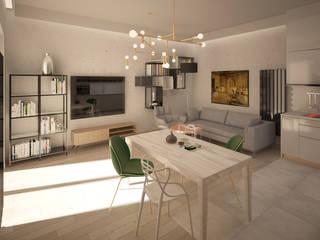 Mieszkanie Art Deco Nowoczesny salon od Puku Studio Nowoczesny