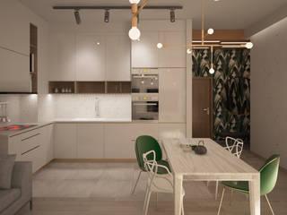 Mieszkanie Art Deco: styl , w kategorii Salon zaprojektowany przez Puku Studio