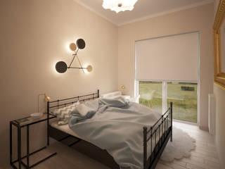 Mieszkanie Art Deco Nowoczesna sypialnia od Puku Studio Nowoczesny