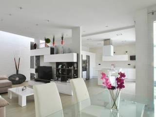 Casa Castilla la Vieja b2v arquitectura Salones de estilo moderno