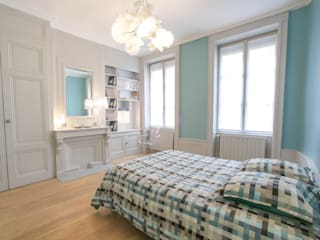 Aménagement et décoration d'une chambre: Chambre de style  par Myriam Wozniak Architecture et décoration