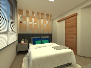 Modern style bedroom by ARQUITETURA - Camila Fleck Modern