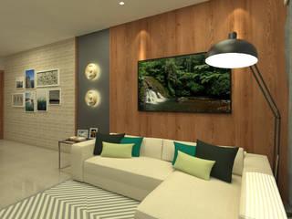 Ruang Keluarga oleh ARQUITETURA - Camila Fleck, Modern