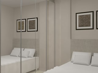 Quarto Casal - Balneário Camboriú Quartos modernos por Daleffe e Marques Arquitetura Moderno