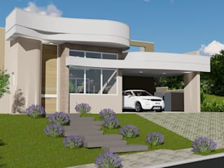 Projeto Arquitetura Residencial AAV26: Casas  por arquiteto bignotto