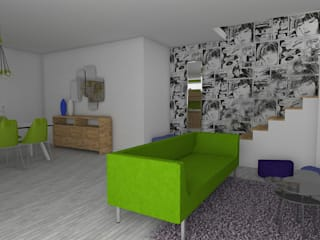 Mieszkanie z zielonymi dodatkami : styl , w kategorii  zaprojektowany przez Icw Studio