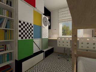 Pokój dziecięcy z wykorzystaniem kolekcji VOX Nowoczesny pokój dziecięcy od Icw Studio Nowoczesny