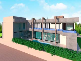 Fachada Lateral: Casas  por ProjetArchi