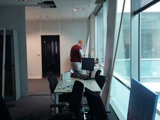 Office Refurbishment, Stanstead Airport Gr8 Interiors Industrial style airports