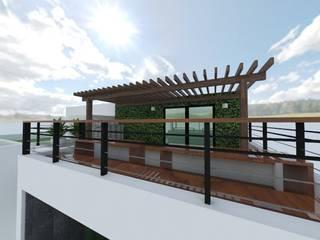Terreza & Facahada Balcones y terrazas modernos de Arquitectura Ecologista Moderno
