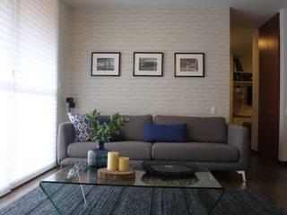 Sala:  de estilo  por Home Reface - Diseño Interior CDMX