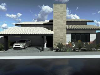 Residência M&R Casas rústicas por Rabiscos Arquitetura Rústico