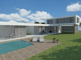 Proyecto casa fin de semana -> Ultimando detalles: Casas de estilo  por FG ARQUITECTURA E INTERIORISMO