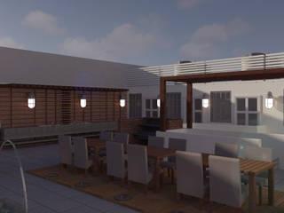 Modern Terrace by Perfil Arquitectónico Modern
