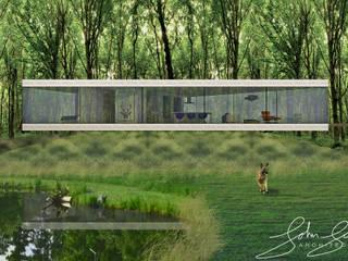 Aanzicht langszijde:  Huizen door Schneijderberg Architectuur & Design