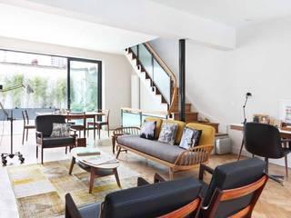 Pascoe Interiors London townhouse designed in mid century style Scandinavian style living room by niche pr Scandinavian