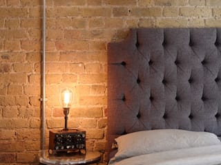warehouse brick wall bedroom by homify Eclectic اینٹوں