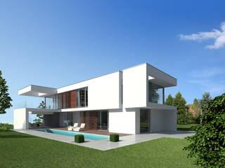 現代房屋設計點子、靈感 & 圖片 根據 Fichtner Gruber Architekten 現代風