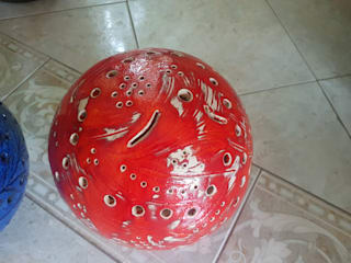 Kermikkugel, Gartenkugel, Lichtkugel:   von CAMOLITA - Keramik
