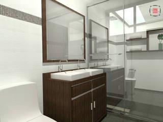 baño principal: Baños de estilo  por JELKH Design Architects s.a.s