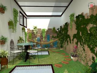 patio interior Jardines de estilo moderno de homify Moderno