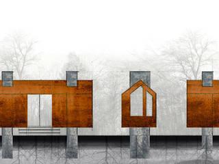 Casas de estilo moderno de @tresarquitectos Moderno