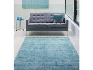 Bonsoni Oslo Distressed Stripe Two-tone Chic Purple 100% Wool Rug 150 x 230cm homify Walls & flooringCarpets & rugs Wool Purple/Violet