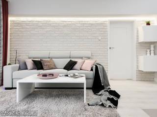 Mieszkanie #2 Nowoczesny salon od Q2Design Nowoczesny