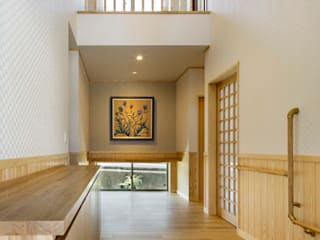 小栗建築設計室 Corredores, halls e escadas modernos
