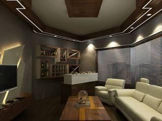 Salle multimédia de style  par Avant Garde Design