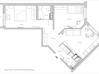 СВЕТЛАНА АГАПОВА ДИЗАЙН ИНТЕРЬЕРА Paredes y pisos de estilo minimalista