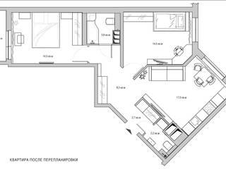 СВЕТЛАНА АГАПОВА ДИЗАЙН ИНТЕРЬЕРА Minimalist walls & floors