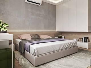 СВЕТЛАНА АГАПОВА ДИЗАЙН ИНТЕРЬЕРА Dormitorios de estilo minimalista Gris