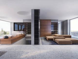 Haus K destilat Design Studio GmbH Moderne Wohnzimmer