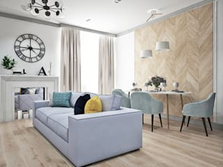 Scandinavian style living room by Ирина Рожкова - частный дизайнер интерьера Scandinavian