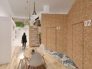 Garden Hostel:  de estilo  de Upper interiorismo