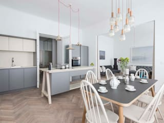 Apartment E&E destilat Design Studio GmbH Moderne Küchen