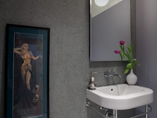 Bachelor Pad:  Bathroom by JKG Interiors