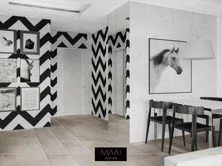 Nowoczesne mieszkanie dla pary: styl , w kategorii  zaprojektowany przez MAAI Design