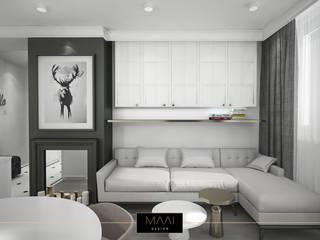 Mieszkanie 38m2 - Zielony Żoliborz: styl , w kategorii  zaprojektowany przez MAAI Design