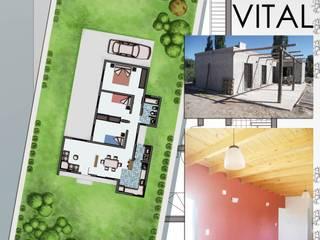Mediterranean style house by Hornero Arquitectura y Diseño Mediterranean Bricks