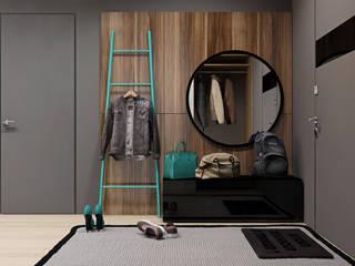 Couloir, entrée, escaliers minimalistes par Осейко Алексей и Виктория Minimaliste
