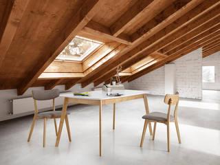Buhardilla madera estilo escandinavo:  de estilo  de somcasa