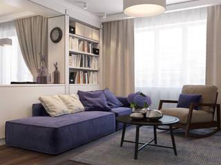 Livings de estilo escandinavo por Осейко Алексей и Виктория