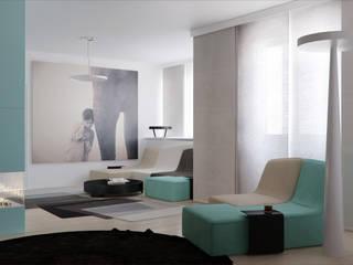 Salon minimaliste par Осейко Алексей и Виктория Minimaliste