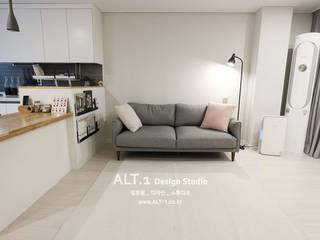 Salon moderne par 알트원디자인스튜디오 Moderne